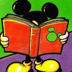 Mickey reads.