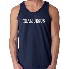 YOUTH Jesus Is My Rock And Thats How I Roll Dye Rngspn Tank Tops-12 colors
