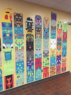 Thomas Elementary Art Totem Poles By Grade Draw Your Own Snowboard Or Skis
