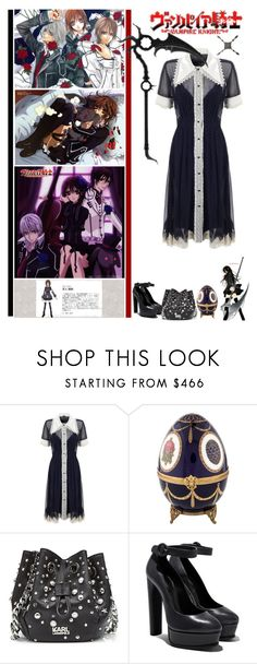 """""""Vampire Knight"""" by fashionqueen76 ❤ liked on Polyvore featuring Meadham Kirchhoff, Yuki, Fabergé, Karl Lagerfeld, anime and tvshow"""