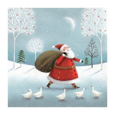 Jo Parry - Santa With Geese