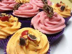 Turkish Delight and Jaffa Cupcakes - I just took a plain chocolate cake mix  and added 4ddedd752