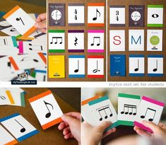 Pictures of the new rhythm card set, can't wait to show these to the kids!