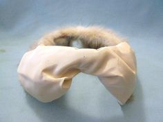 Classic 1950s-60s Cocktail Hat with Ivory Satin Bow White Fur, Vintage Hats, 1950s Cocktail Hats by PricelessRubies on Etsy