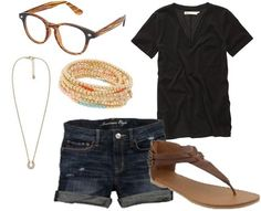 simple style, i almost always am wearing a black or white shirt and flip flops with jeans or shorts.