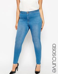 ASOS+CURVE+Rivington+High+Waist+Jeggings+in+Orchid+Wash