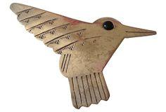1980s Silver Hummingbird Brooch on OneKingsLane.com