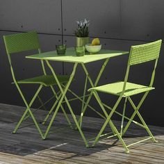 Ensemble table et chaises en aluminium. #Salon #jardin   Tables de ...