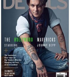 Johnny Depp Brings Bohemian Style to Details December 2014/January 2015 Cover Photo Shoot