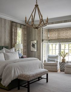 In Good Taste: Mary Beth Wagner Interiors - Design Chic Beach House Bedroom, Home Bedroom, Master Bedroom, Beach Bedrooms, Beautiful Bedrooms, Beautiful Homes, Bedroom Images, Memphis, Window Treatments