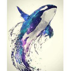 Diamond Painting Orca Water Color Kit - Diamond Painting Orca Water Color Kit Offered by Bonanza Marketplace. Arte Orca, Orca Art, Orca Tattoo, Whale Tattoos, Tattoo Animal, Animal Paintings, Animal Drawings, Art Drawings, Killer Whale Tattoo