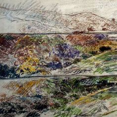 Study for High up on the Ridge Bob Armitage Lunesdale Art Trail