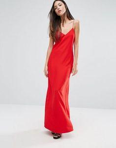 Warehouse Diamante Spaghetti Strap Dress