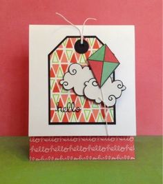 Tag, You're It Challenge...stamps by Paper Smooches and Lawn Fawn. By Sherri Thompson.