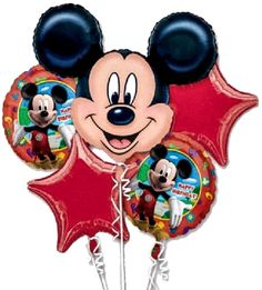☆MICKEY MOUSE-ANAGRAM-BALLOONS-MYLARS-BOUQUET-PACKAGED-QUANTITY=1 PACKAGE☆ #Anagram #BirthdayChild