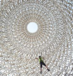 Image 8 of 16 from gallery of UK Pavilion - Milan Expo 2015 / Wolfgang Buttress. Photograph by UKTI Expo Milano 2015, Expo 2015, Amazing Architecture, Modern Architecture, Pavilion Architecture, Cultural Architecture, Material Research, Pavilion Design, Crystal Palace