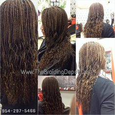 Small long Box Braids with Wavy Ends done with Hollywood yaky hair done within 6 hrs at Braids By Bee at The Braiding Depot Inc.