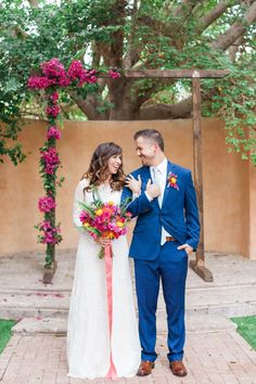 Bright & colorful Spanish inspired wedding at The Royal Palms Hotel.  Photo by April Maura.