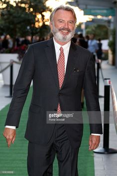 Actor Sam Neill arrives ahead of the New Zealand premiere of Hunt For The Wilderpeople on March 30, 2016 in Auckland, New Zealand. Hunt For The Wilderpeople, Landed Gentry, Sam Neill, Mardi Gras Parade, Taika Waititi, Mens Attire, Looking Dapper, Beautiful Costumes, Media Design