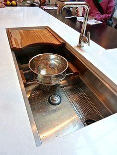 Wow...check out this sink from Kallista via http://kallista.com/search.kls?searchString=Multiere Click on photo to see more of this gorgeous kitchen and watch this video http://www.kohler.com/video/230/Kohler-Interiors/lvl1id?255/Kallista/lvl2id?256/Videos/playlistid?652861537001/Kallista/videoid?970381985001/Mick-De-Giulio-Sinks/