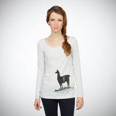 ff31eb6f1844 Llama Longsleeve T-shirt - Women's White | Cotopaxi - Gear For Good Llamas,