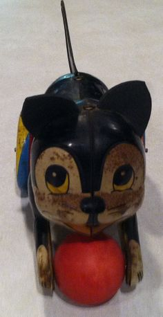 1930s Vintage Litho Tin Cat Toy Made in Japan