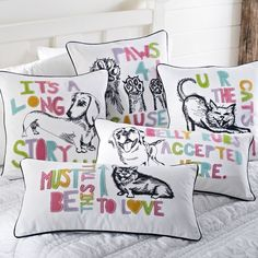 These Pet Pals Pillow Covers from @PBteen feature cute and cheerful felt appliqué details. $5 from the sale of each pillow cover will be donated to the ASPCA!