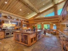 Amazing Kitchen! Love the wood, makes it look so cozy!