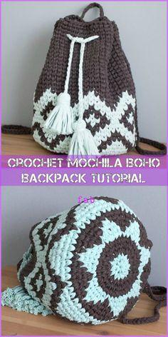 Marvelous Crochet A Shell Stitch Purse Bag Ideas. Wonderful Crochet A Shell Stitch Purse Bag Ideas. Crochet Backpack Pattern, Crochet Purse Patterns, Bag Pattern Free, Crochet Bag Tutorials, Diy Crochet, Crochet Projects, Learn Crochet, Crochet Crafts, Crochet Ideas
