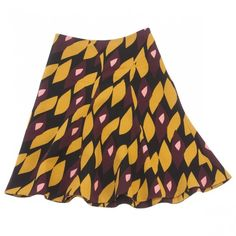 Wool mid-length skirt MARNI ($345) ❤ liked on Polyvore featuring skirts, wool skirt, marni skirt, multi colored skirt, marni and colorful skirts