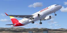 Iberia A320-214 Sharklets Texturas para FSX (archivos BMP) valen para FS9. El primer Airbus 320 de Iberia equipado con sharklets llegó a Madrid procedente d