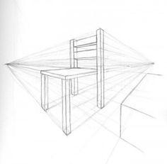 Perspektif Esasına Uygun Bir Çizim Nasıl Yapılır? Point Perspective, Perspective Drawing, Thumbnail Sketches, Chair Drawing, Hip Workout, Colorful Drawings, Make Art, Creative Art, Art Lessons