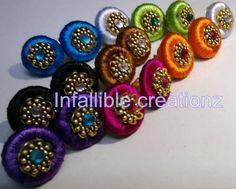 Information Hub: Silk Thread Jhumkas and Studs Bulk Order Whole Sale Silk Thread Jhumkas, 5 Min Crafts, Thread Jewellery, Bulk Order, Indian Jewelry, Studs, Handmade Jewelry, Jewelry Design, Design Ideas
