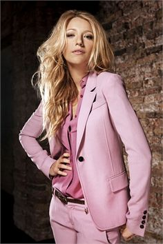 Nice Suit- Pretty in Pink!