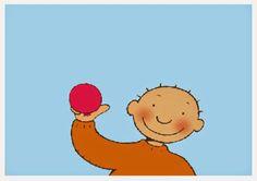 Ballonnetje, ballonnetje (prent 1) Ik blaas je op (prent 2) Ballonnetje…