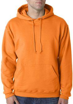 jerzees adult nublend(R) hooded pullover sweatshirt - tennessee orange (l)