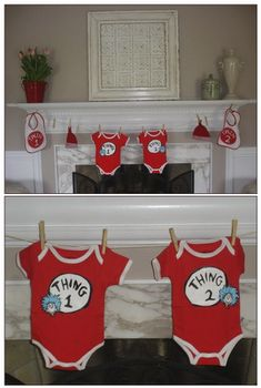 Design Dazzle: Dr. Seuss Baby Shower . . . aw, and here I thought my Thing 1 and Thing 2 twin idea was original =(