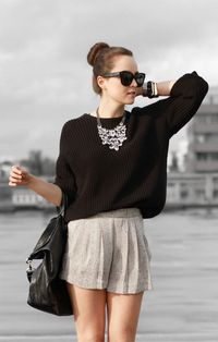 I think I have too much hip for the shorts, but I love this, well minus the necklace. :)