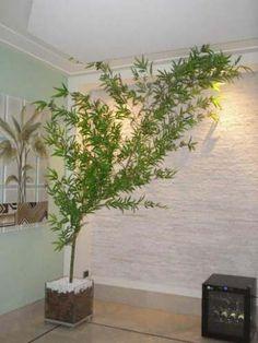 Cachepot De Vidro 35x35 Com Bambu Mosso