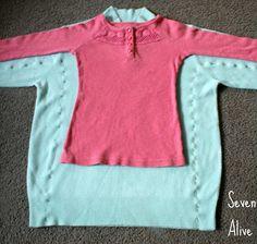 Woman's sweater to little girls sweater dress