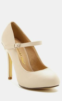 Nude Mary Jane Pumps- lee mind me of character shoes, but still like