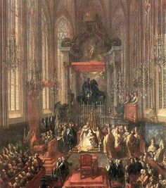 The coronation of Maria Theresa