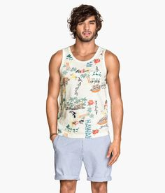Take a trip to the islands with this Hawaii graphic tank top. | H&M For Men
