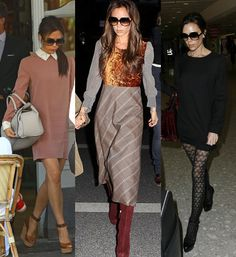 Victoria Beckham London style love her look but the middle one isn't that cute.