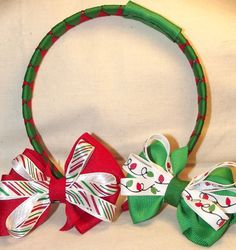 Christmas Woven Headband  Removable Interchangeable by MyCutieBows, $10.00