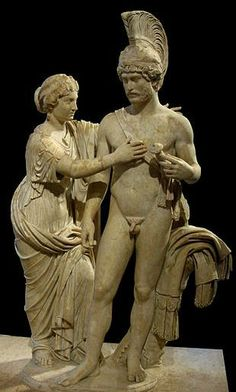 sculpture group of Venus and Mars - created about 120–140 A.D, re-worked on Roman Imperial,