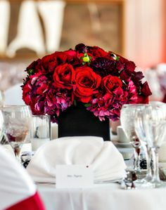 WeddingChannel Galleries: Red Centerpiece