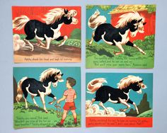 Vintage Nursery Wall Art Prints Horse Room Decor Baby Boy