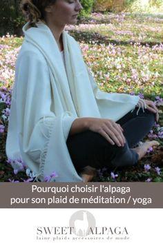 plaid en alpaga chaud et léger à utiliser lors de votre séance de yoga / méditation.
