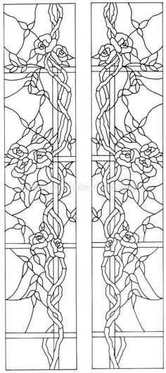 I could use this as either a stained glass-type of applique or continuous applique on a quilt.  This has several interesting possibilities.